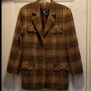 Vintage burberry plaid blazer